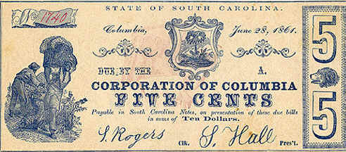 Confederate Currency The Color of Money